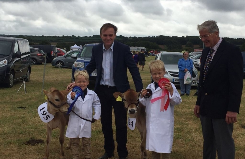 George at Gwinear Show