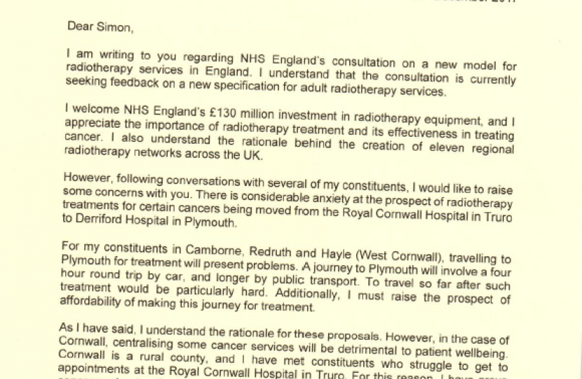 GE Letter to NHS
