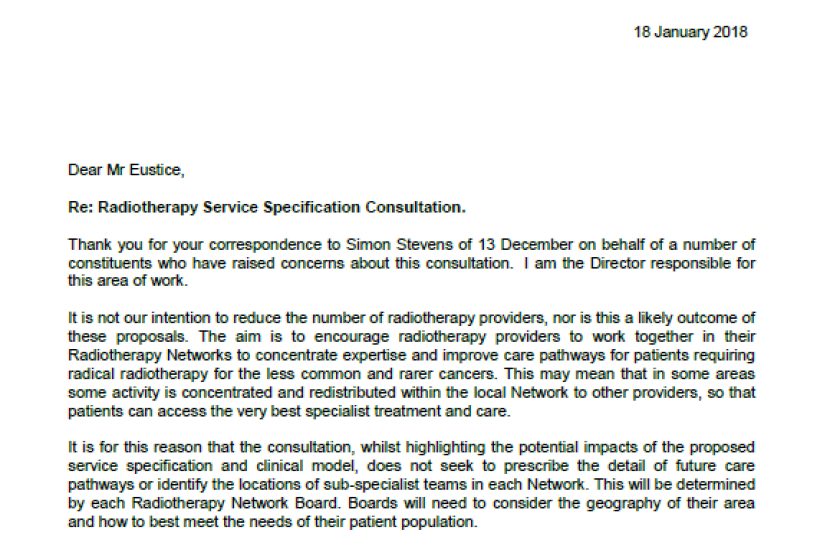 Response from NHS
