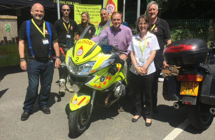 George meets Blood Bikes Charity