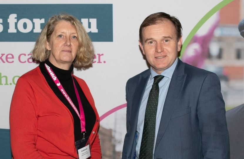 George meets Healthwatch Cornwall Chief Exec