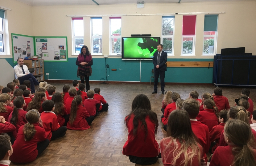 George Eustice welcomes cash boost for schools in Camborne, Redruth and Hayle