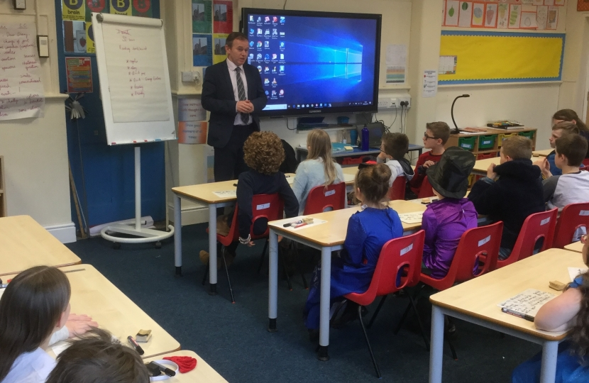George welcomes historic funding boost for schools in Camborne, Redruth and Hayle