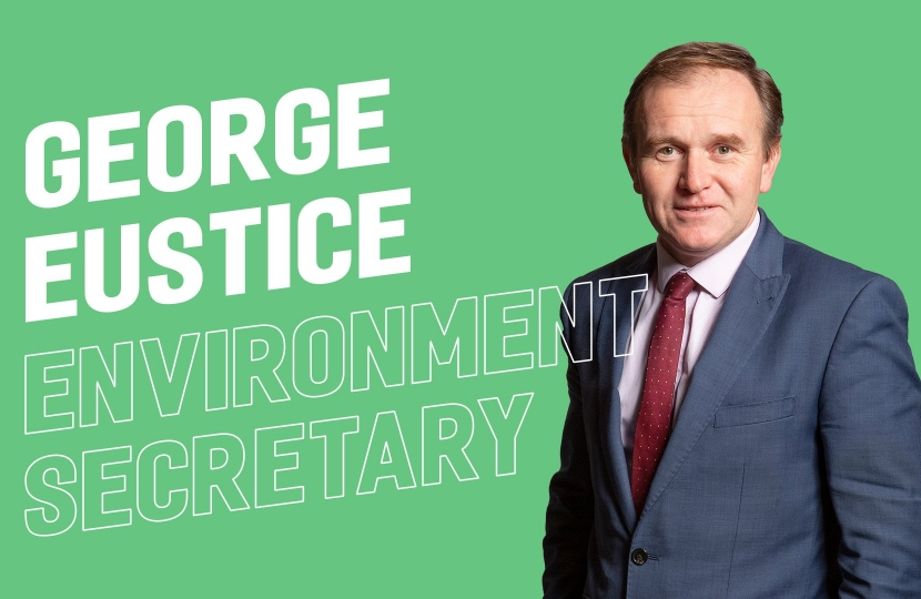 George appointed Secretary of State at Department for Environment, Food and Rural Affairs