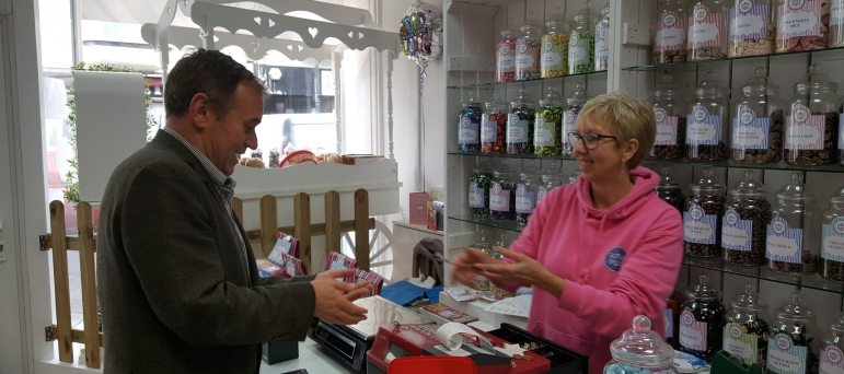 George welcomes new funding to support the reopening of Cornwall's high-streets