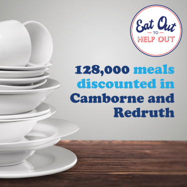 Eat Out to Help Out Scheme a success in Camborne, Redruth & Hayle