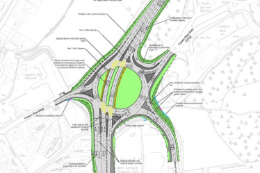 Plans for Loggans Roundabout in Hayle advance to next stage